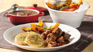 Pfanni recipe |  Goulash with cranberries and dumplings