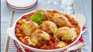 Pfanni recipe |  Mozzarella dumplings wrapped in bacon